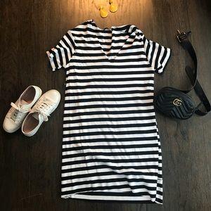 Striped T-shirt Mini dress